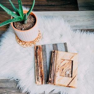 Natural materials photo album + notebook